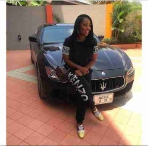 Ghanaian Actress, Jackie Appiah Acquired A Brand New Maserati (Photo)